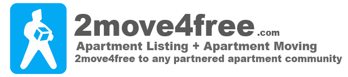 2move4free.com Apartment Listings + Apartment Moving = 2move4free to any partnered apartment community.